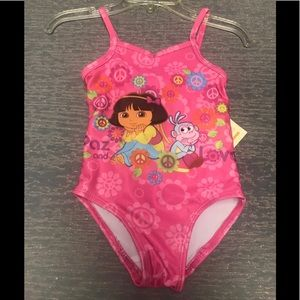 "18 Months ""Dora"" 1 Pc UPF 50+ swimsuit NWT"